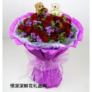 圣诞节鲜花,玫瑰传情(圣诞节预定特价)