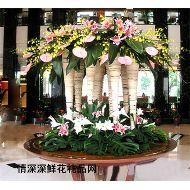 酒店插花,大堂用花