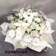 哀思鲜花,素雅
