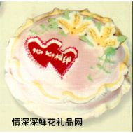 卡通蛋糕,心心相�。�10寸)