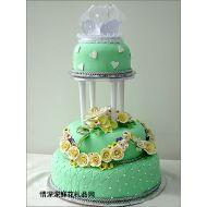 婚礼蛋糕,心心相印
