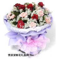 夫妻鲜花,心情笑一笑