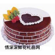 生日蛋糕,心心相印-12寸