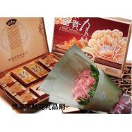 中秋节鲜花,甜丝丝(玫瑰+月饼)特价