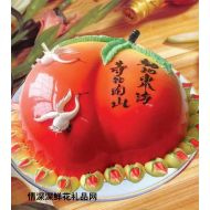 生日蛋糕,蟠桃祝寿