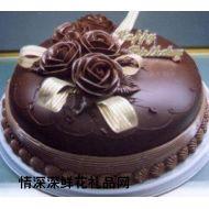 巧克力蛋糕,情深意厚(欧式巧克力艺术蛋糕)