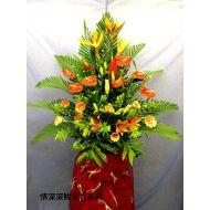 庆典花篮,港式艺术花蓝(3)