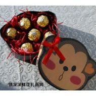 �M列巧克力,情人�&新年精美�Y物/生日�Y物/�M列�_巧克力�Y盒6粒�b/送朋友送�偃�