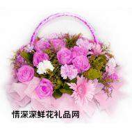 夫妻鲜花,深情祝愿