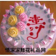 祝寿蛋糕,快乐长寿(十寸)