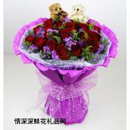 情人节鲜花,玫瑰传情(情人节预定特价)