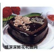 巧克力蛋糕,玫瑰情(八寸)