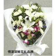 哀思鲜花,葬礼花束