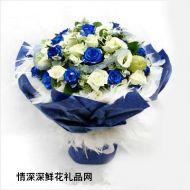 情人节鲜花,蓝色天空