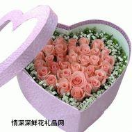 圣诞节鲜花,玫瑰花盒