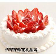 生日蛋糕,雪中玫