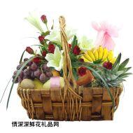 水果礼篮,中秋快乐