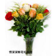 家庭�r花,玫瑰花瓶X2